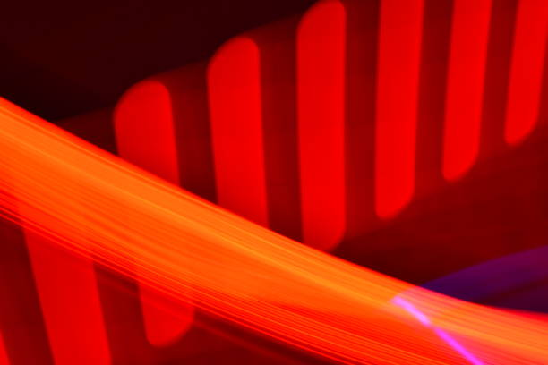 red rounded bars and orange sweep - steven harrie stock photos and pictures