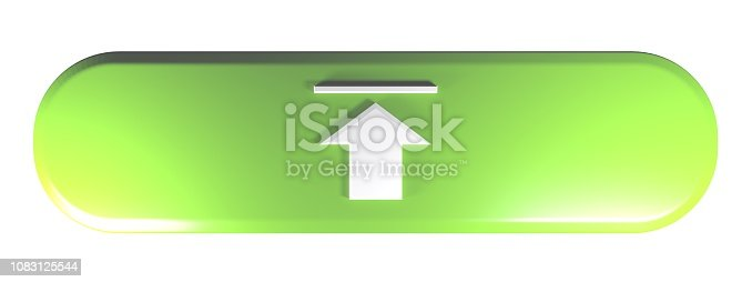 935214858istockphoto Red rounded rectangle UPLOAD - 3D rendering illustration 1083125544
