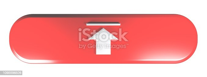 935214858istockphoto Red rounded rectangle UPLOAD - 3D rendering illustration 1095596526