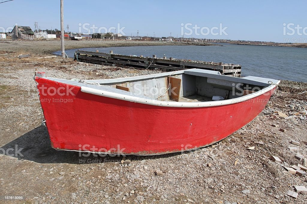 Red row boat royalty-free stock photo