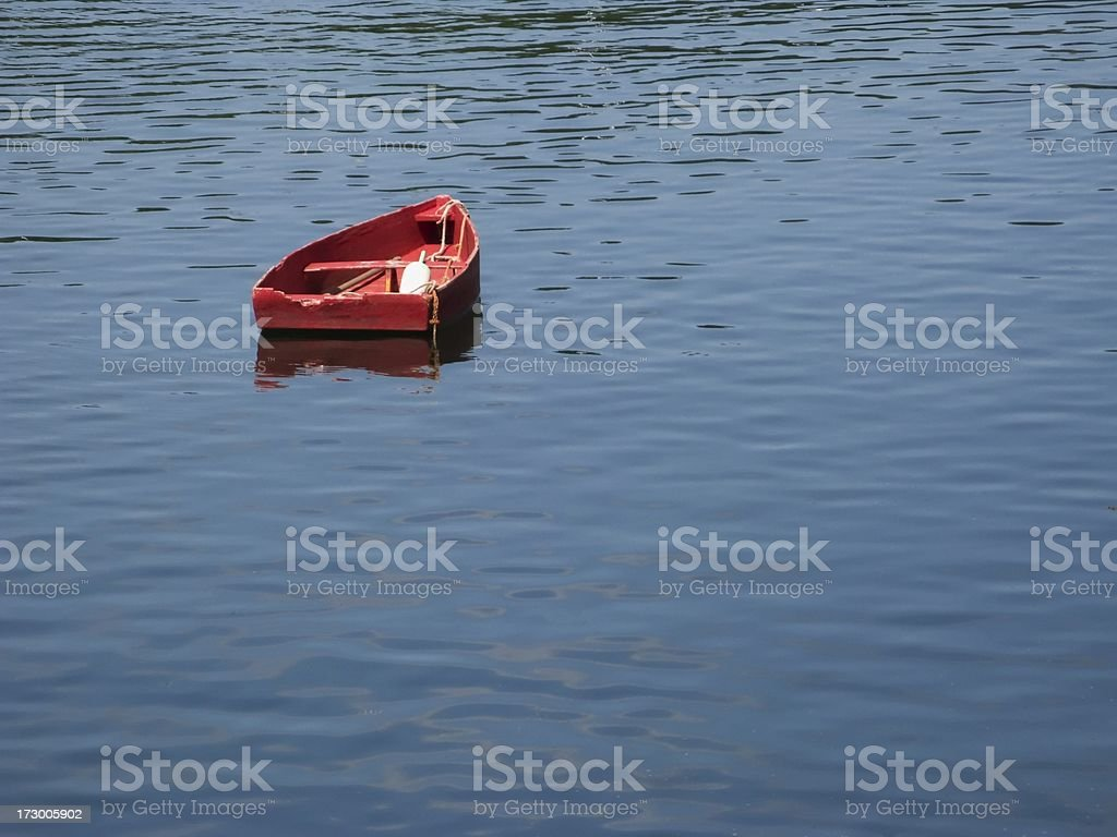 Red Rowboat stock photo