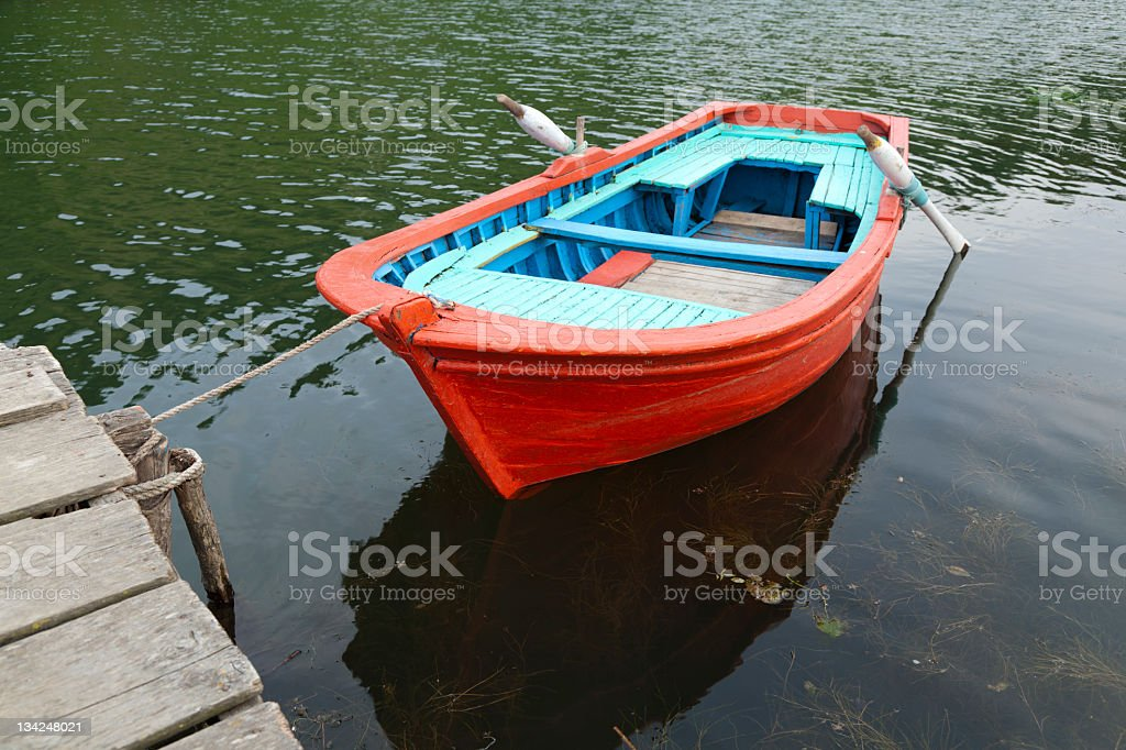 Red Rowing Boat royalty-free stock photo