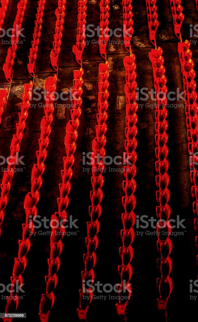 Red Rows stock photo