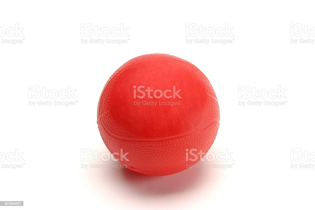 Red Rubber Ball stock photo