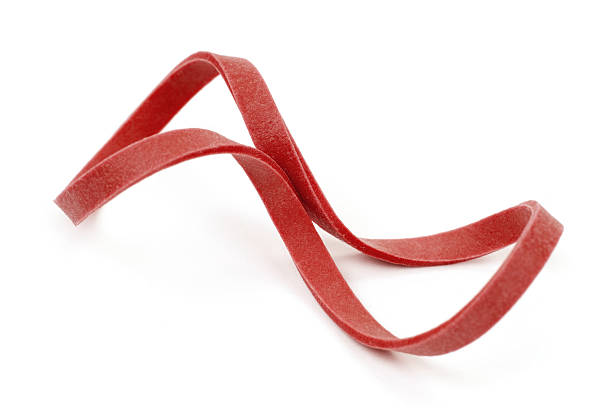 Red Rubber Band stock photo