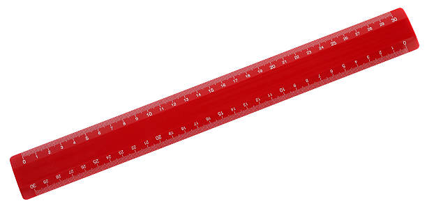 red ruler - ruler stock photos and pictures