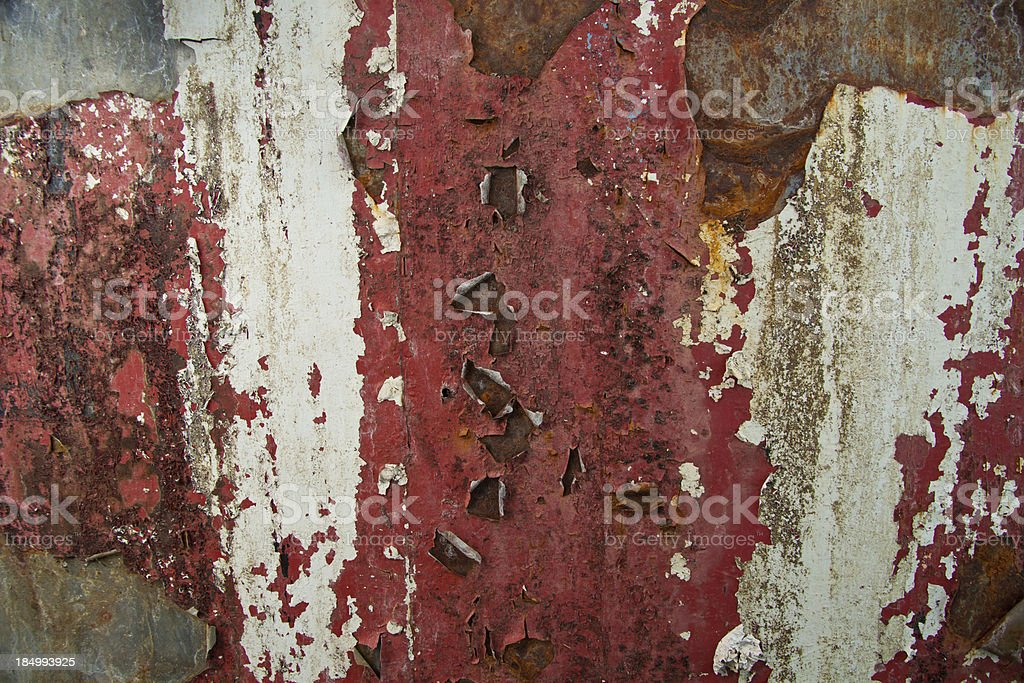 Red rust grunge paint rusty scrap metal corrosion surface royalty-free stock photo
