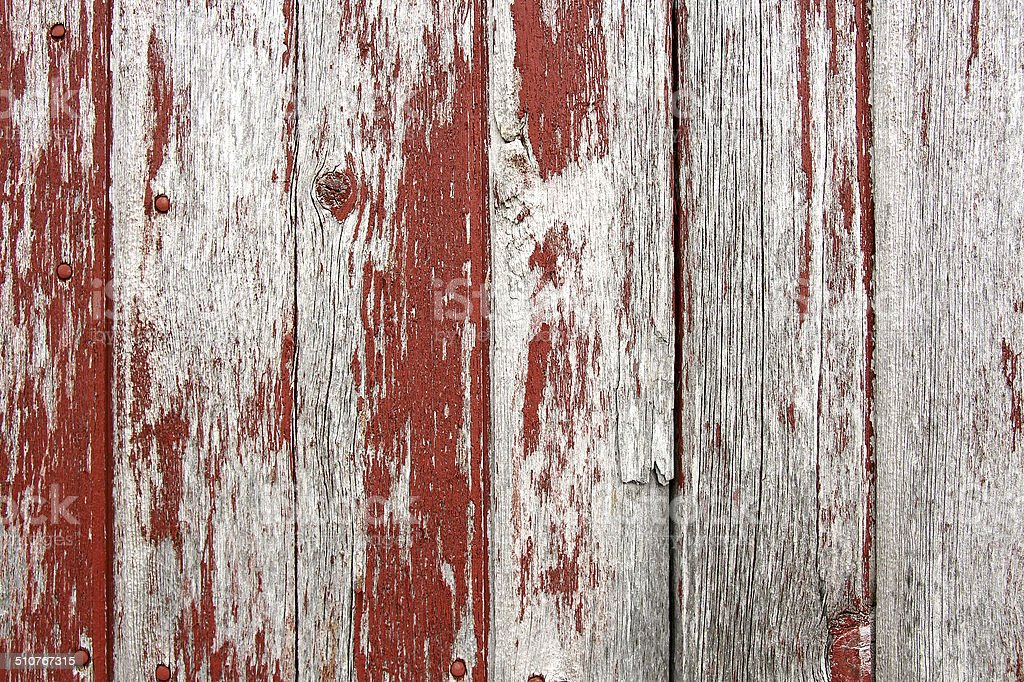 Red Rustic Barn Wood Background stock photo