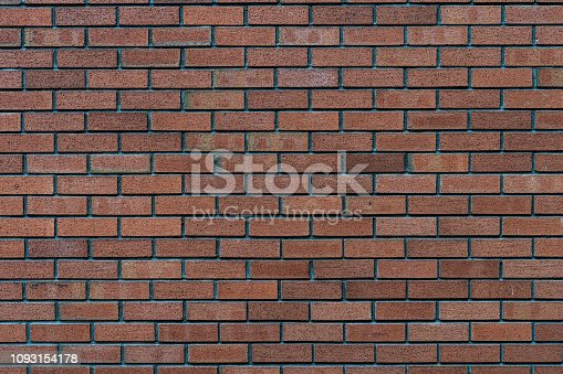 istock Red rustic brick wall - high quality texture / background 1093154178