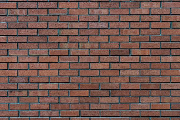 mur de brique rustique rouge - texture de haute qualité / background - brique photos et images de collection