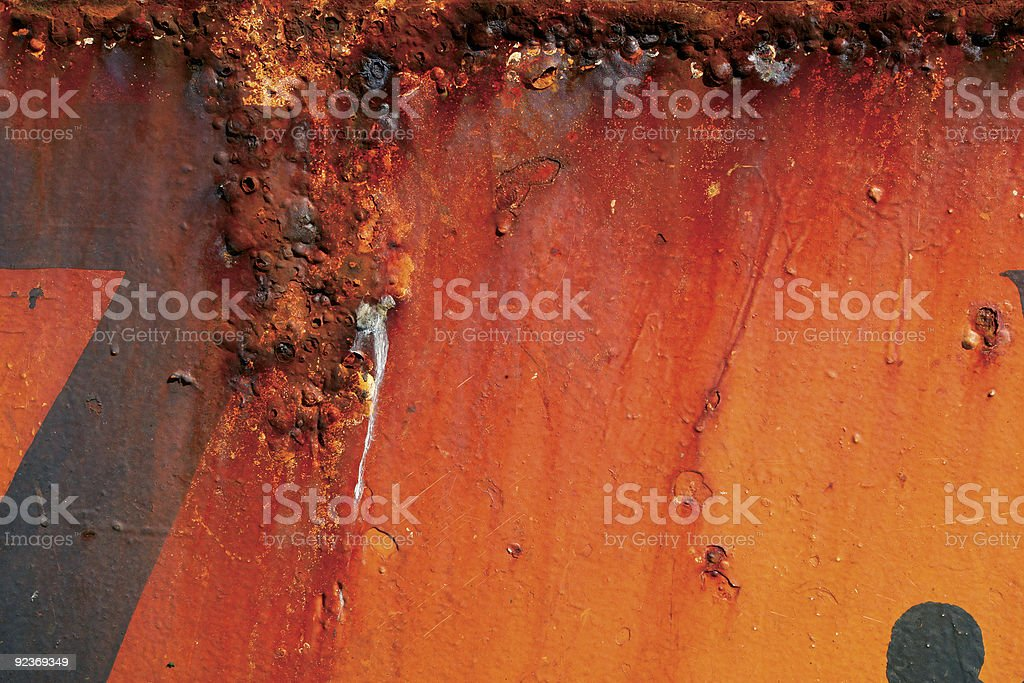Red rusty metal royalty-free stock photo