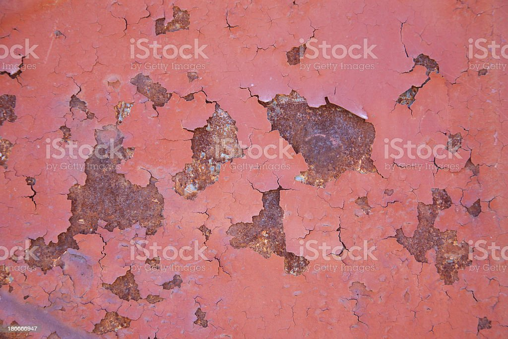 Red Rusty Metal Wall royalty-free stock photo