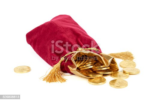 482747823istockphoto Red sack and golden euro 526808813
