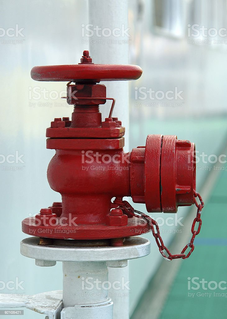 Red safety valve royalty-free stock photo