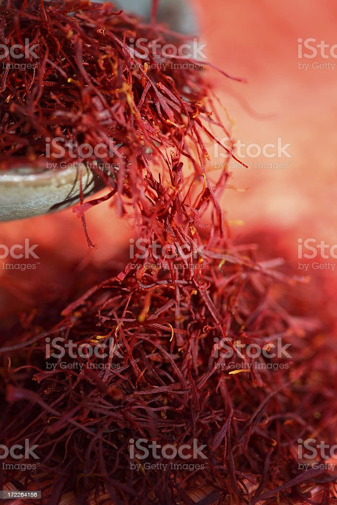 Red saffron 2. stock photo
