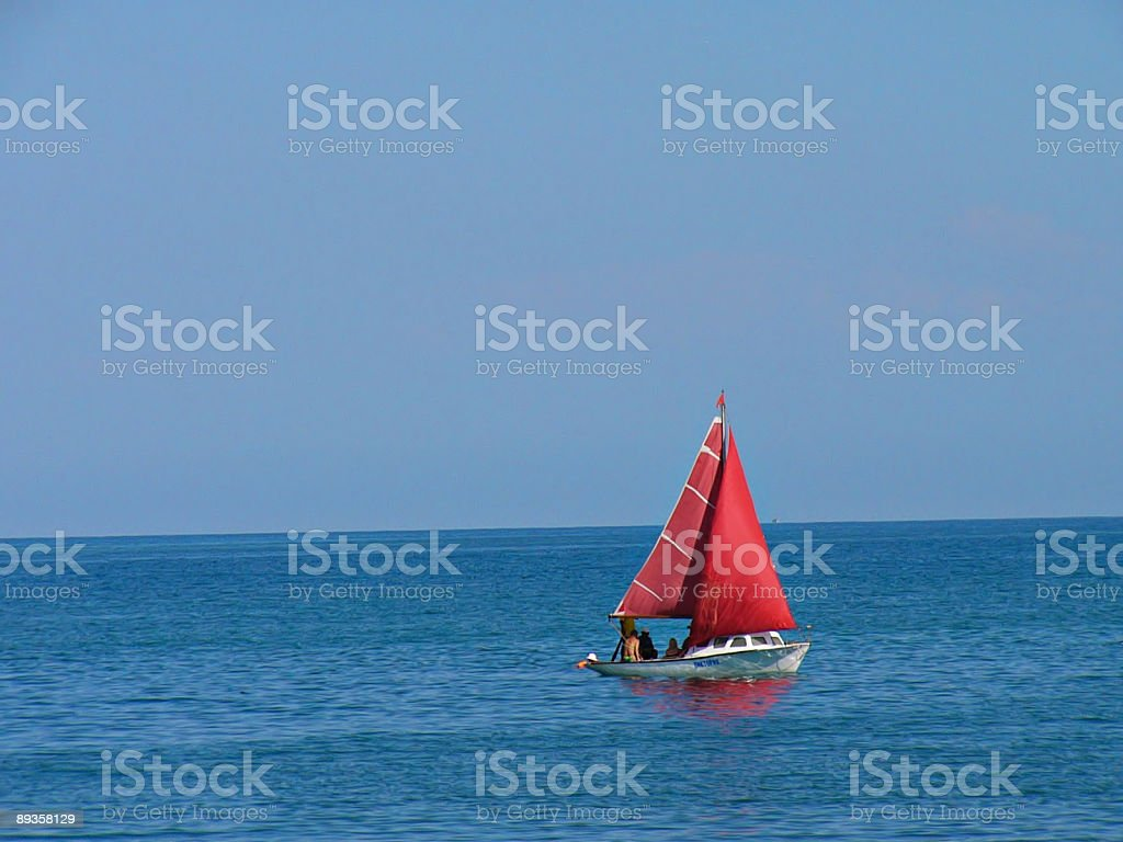 Rosso sail foto stock royalty-free