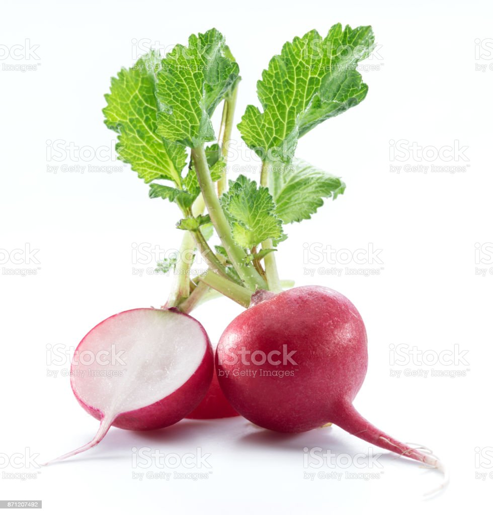 Red salad redish. stock photo