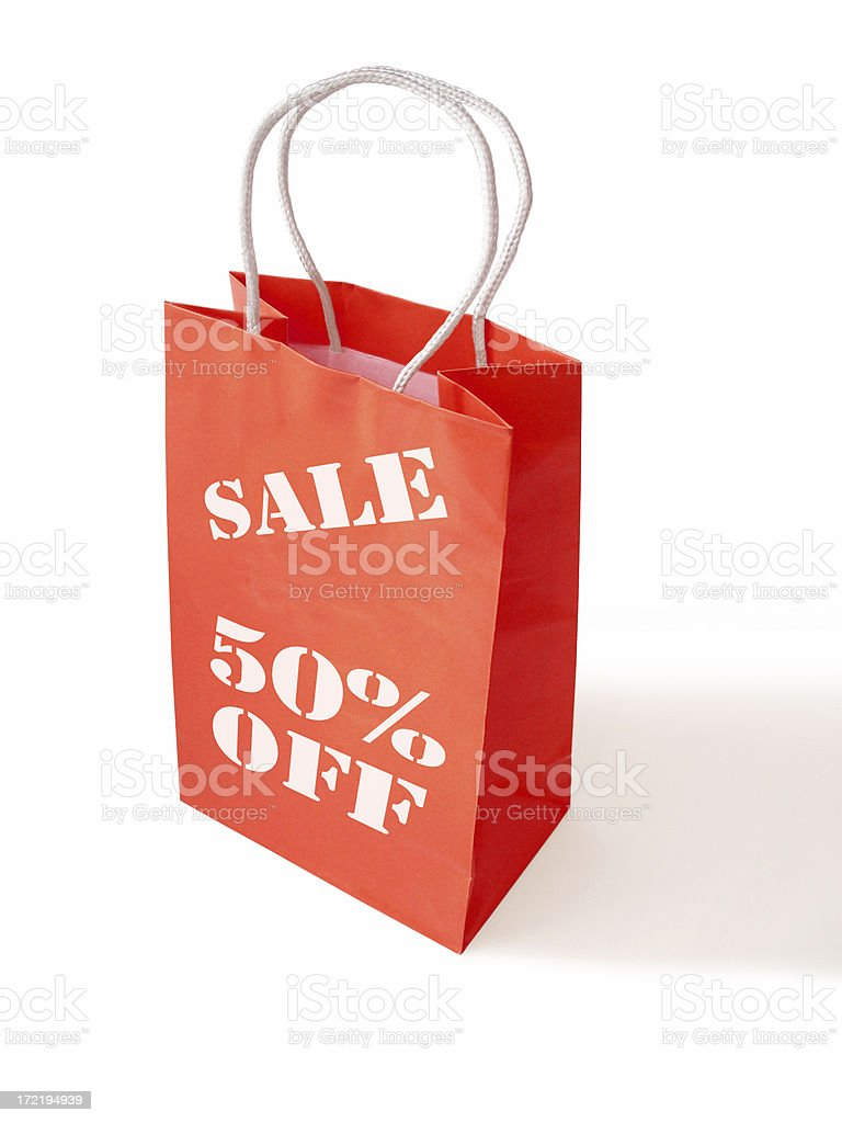 Red sale bag royalty-free stock photo