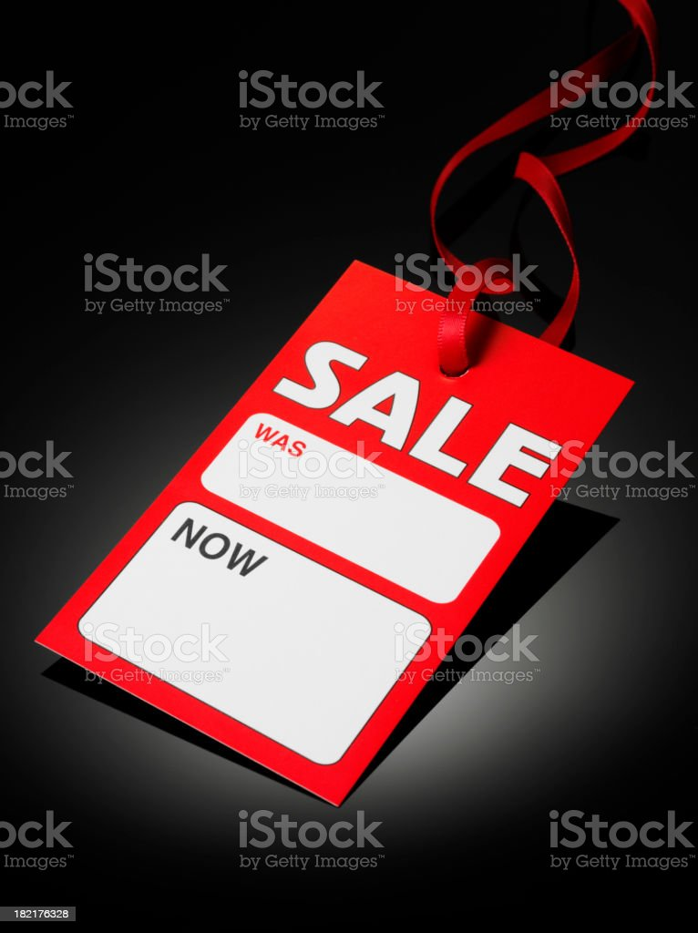 Red Sale Label royalty-free stock photo