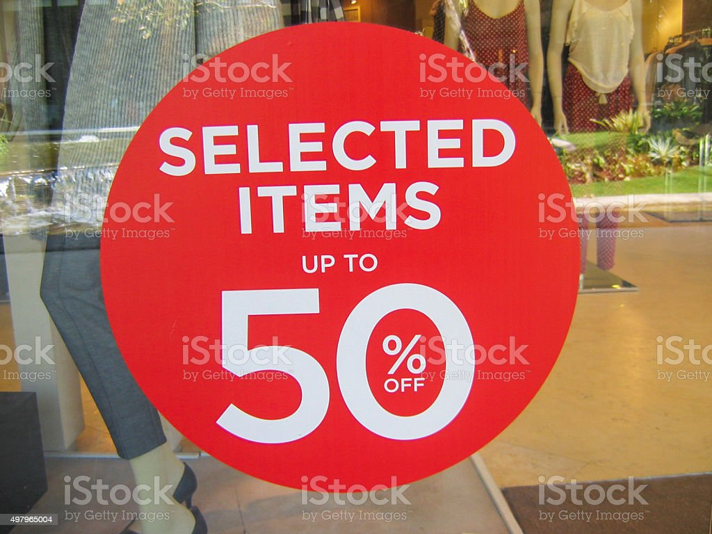 Red Sale sign stock photo