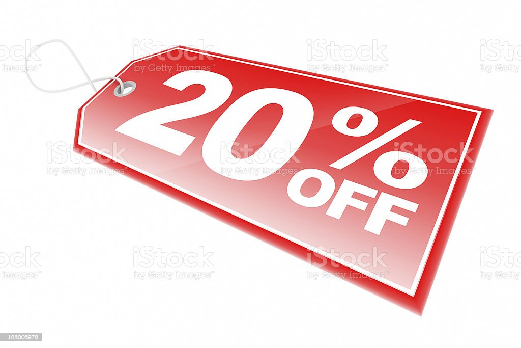 Red Sale Tag royalty-free stock photo