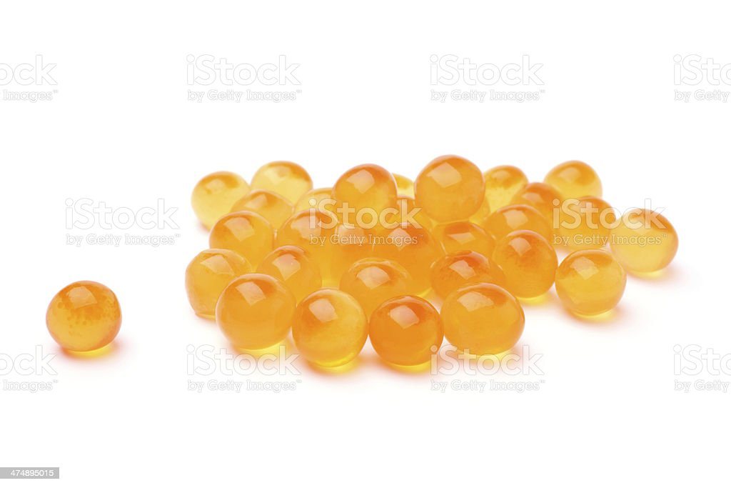 Red salted caviar stock photo