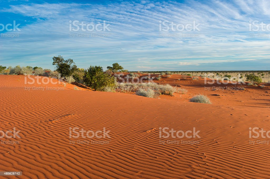 red sand dunes, Welford National Park stock photo