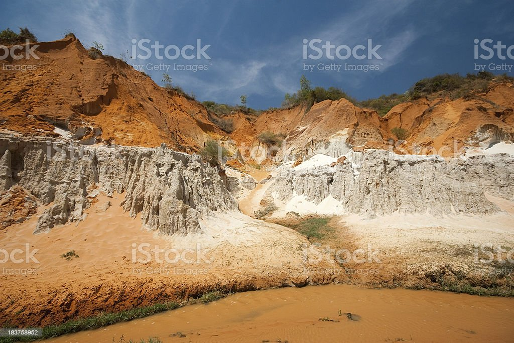 red sand hills looking like Martian landscape royalty-free stock photo
