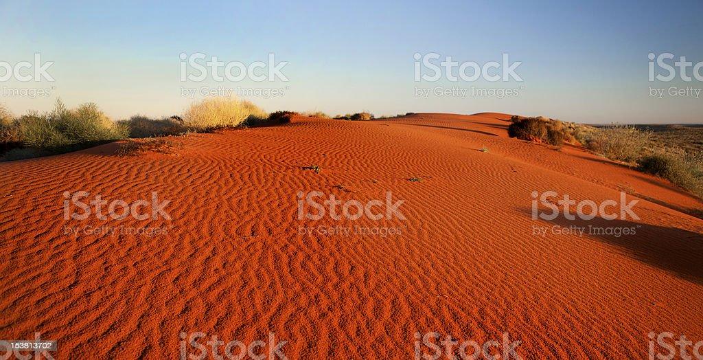 Red sand in Simpson Desert, Australian outback stock photo