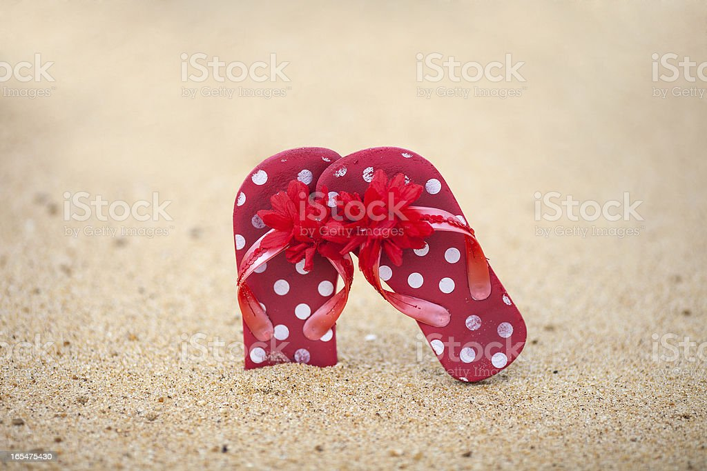 red sandals royalty-free stock photo