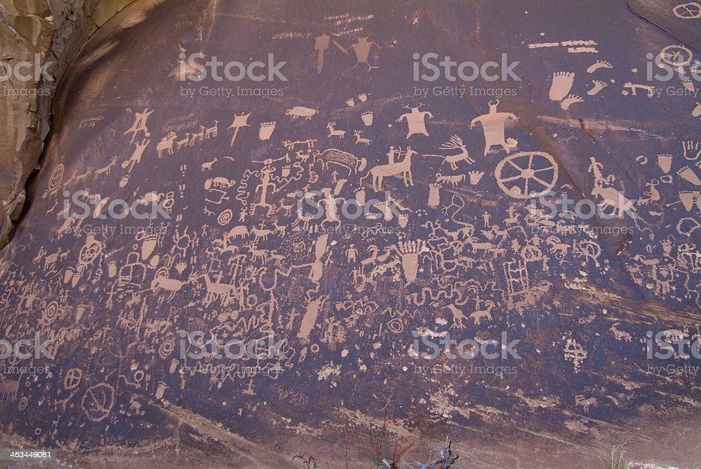 Red Sandstone Boulders Newspaper Rock Canyonlands National Park Southwest Utah royalty-free stock photo