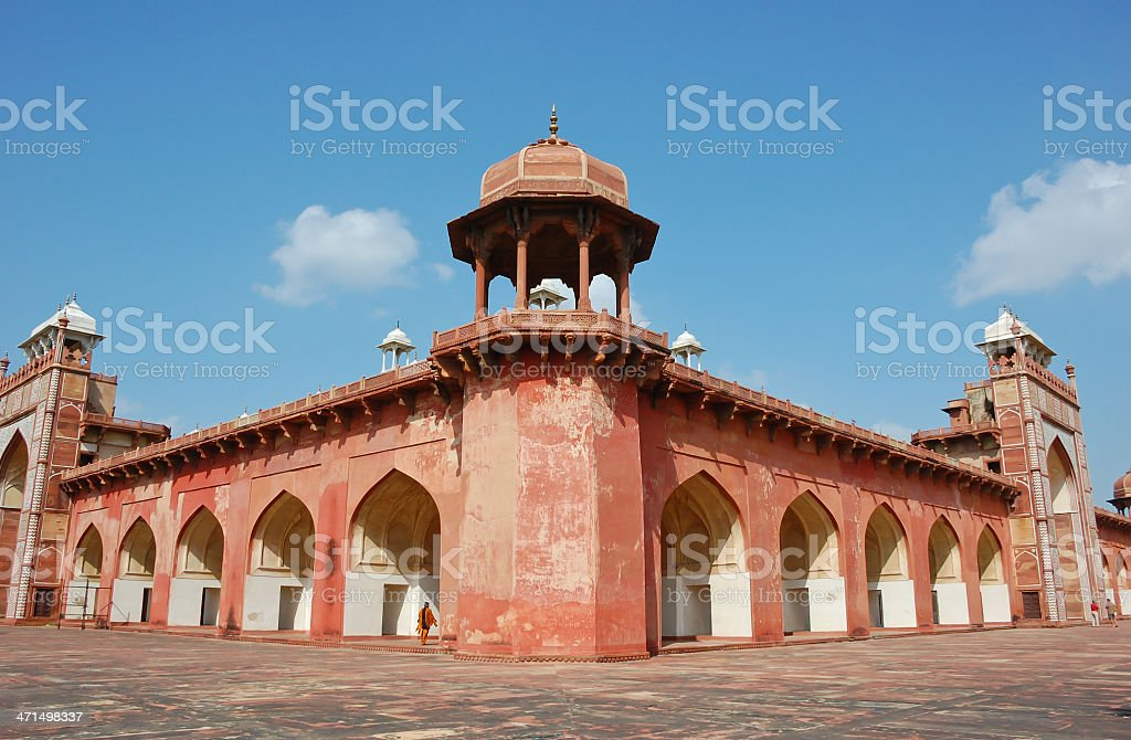 Red sandstone Indian architecture stock photo