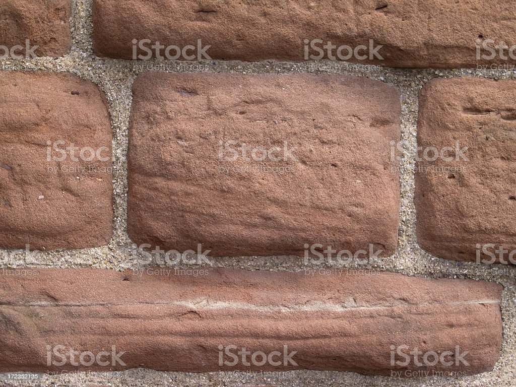 Red sandstone wall royalty-free stock photo
