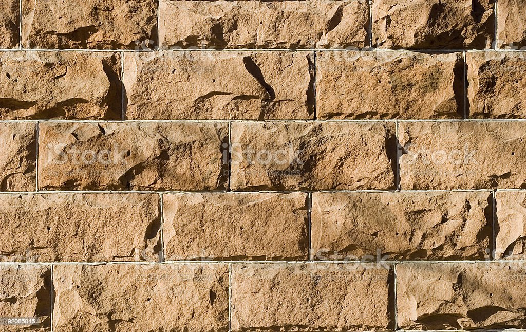 Red Sandstone Wall Textured Background royalty-free stock photo