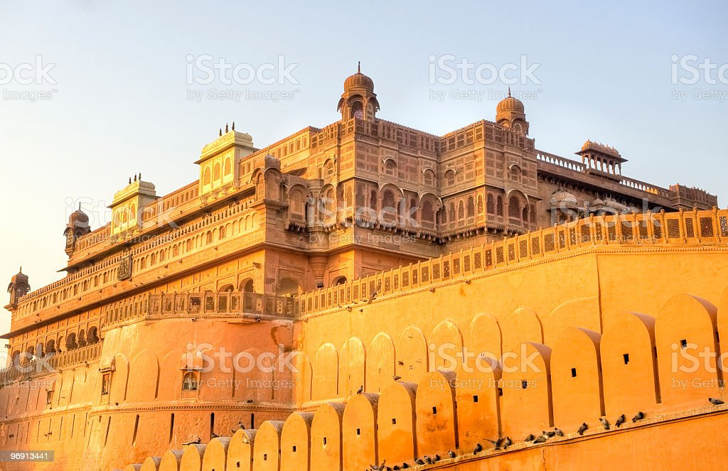 Red sandtone palace in India stock photo
