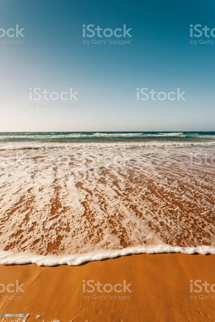 Red sandy beach, Ramla Bay, Gozo Island, Malta royalty-free stock photo