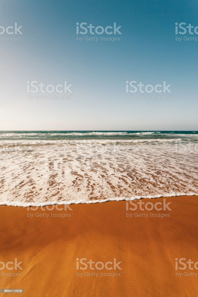 Red sandy beach, Ramla Bay, Gozo Island, Malta royalty-free stock photo