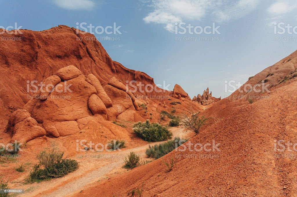 Red sandy canyon stock photo