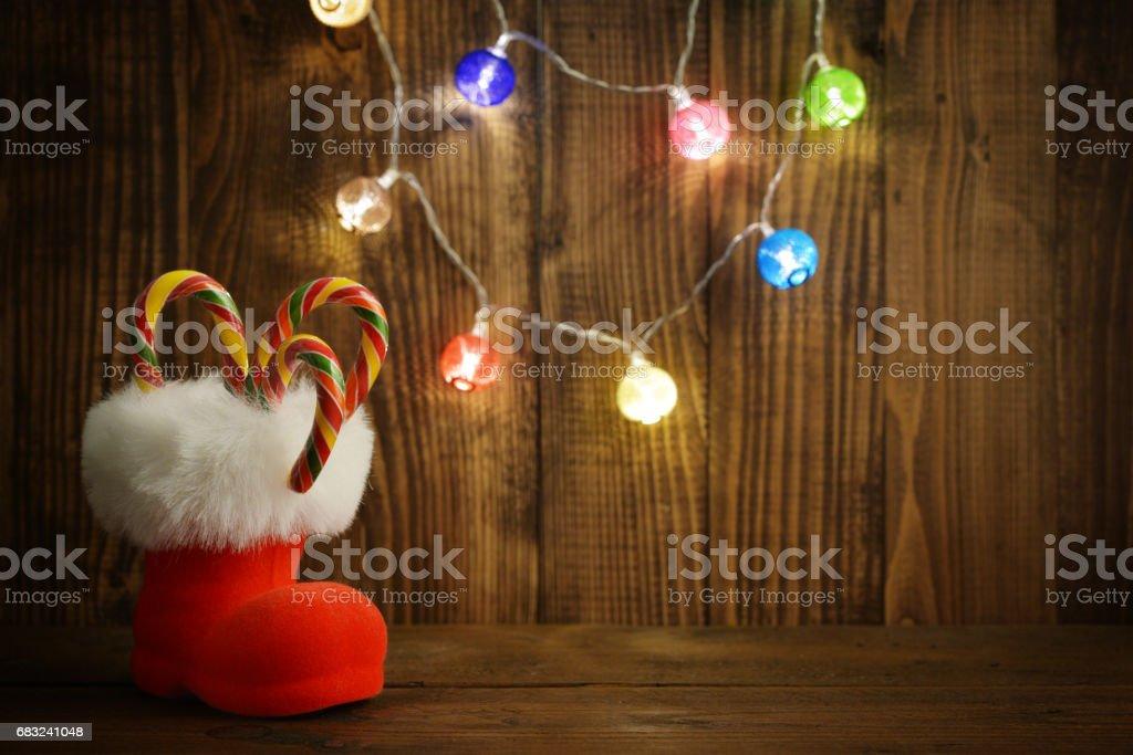 Red Santa's boots 免版稅 stock photo