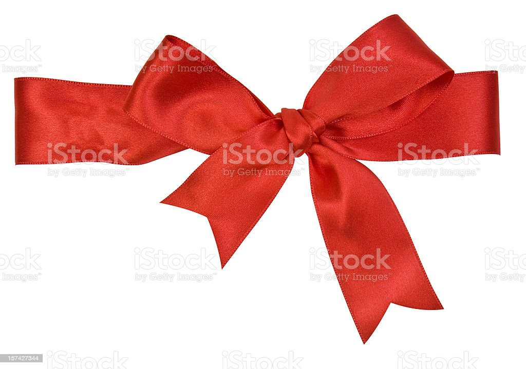 Red Satin Bow royalty-free stock photo