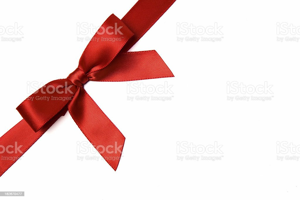 Red Satin Gift Bow royalty-free stock photo