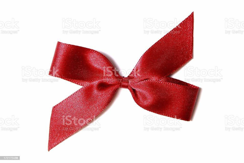 Red satin ribbon royalty-free stock photo