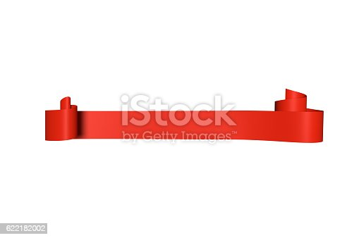 istock Red Satin Ribbon 622182002