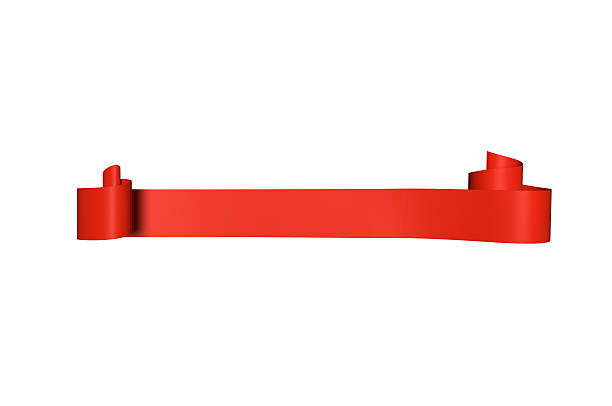 red satin ribbon - ribbon sewing item stock photos and pictures