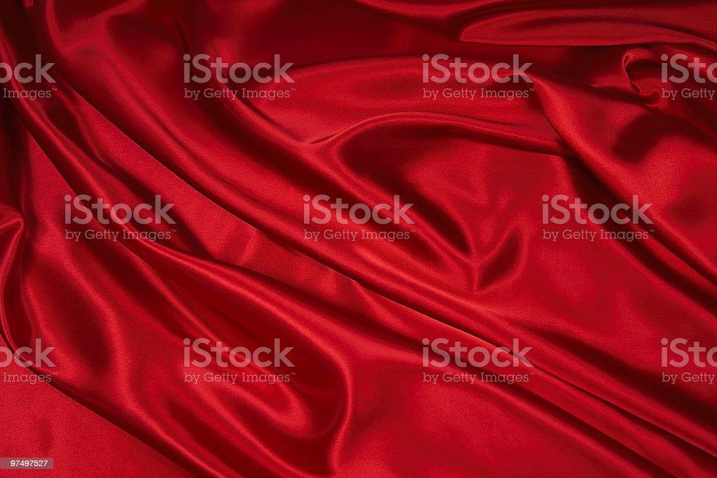 Red Satin/Silk Fabric 1 royalty-free stock photo
