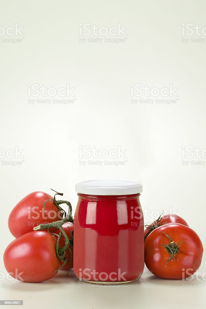 red sauce of the tomato royalty-free stock photo