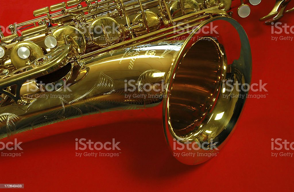 Red Saxophone royalty-free stock photo