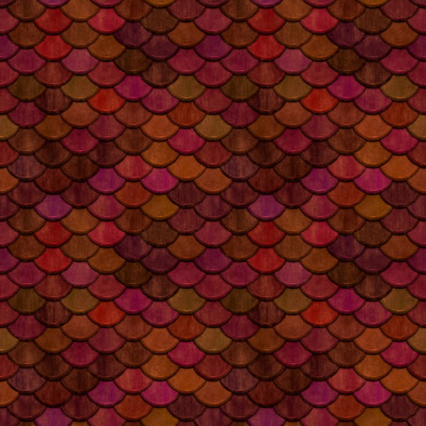 Fish Scale Pattern Red