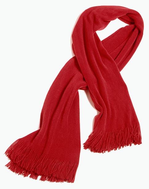 red scarf cut out on white  headscarf stock pictures, royalty-free photos & images