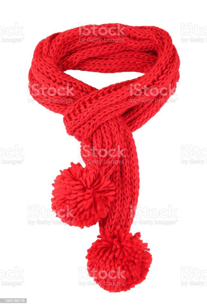 Bufanda roja aislada. - foto de stock